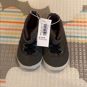 Grey 6-9 month old navy shoes baby boy